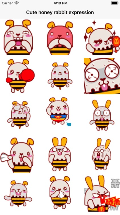 Cute honey rabbit expression