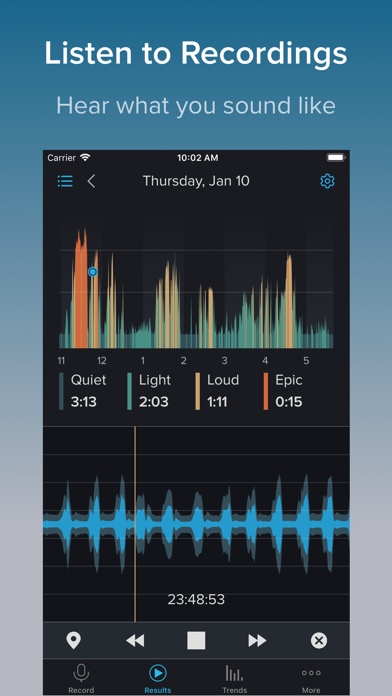 Screenshot for SnoreLab : Record Your Snoring in Denmark App Store