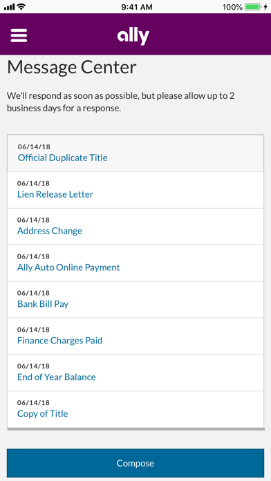 Screenshot for Ally Auto Mobile Pay in United States App Store