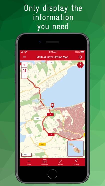 Malta & Gozo Offline Map screenshot-3