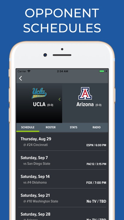 Arizona Football Schedules screenshot-5