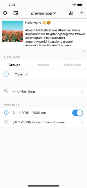 Preview: Planner for Instagram on the App Store