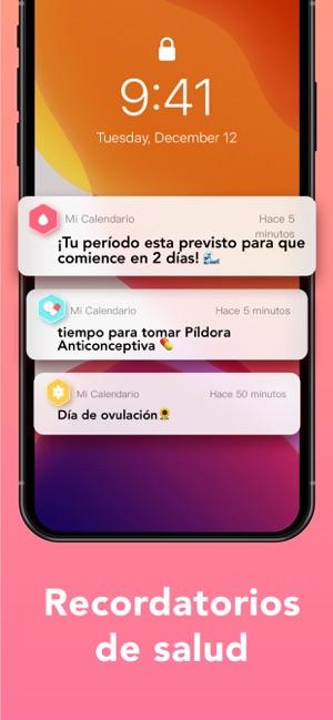 Calendario De Periodo Menstrual.Periodo Calendario Menstrual En App Store