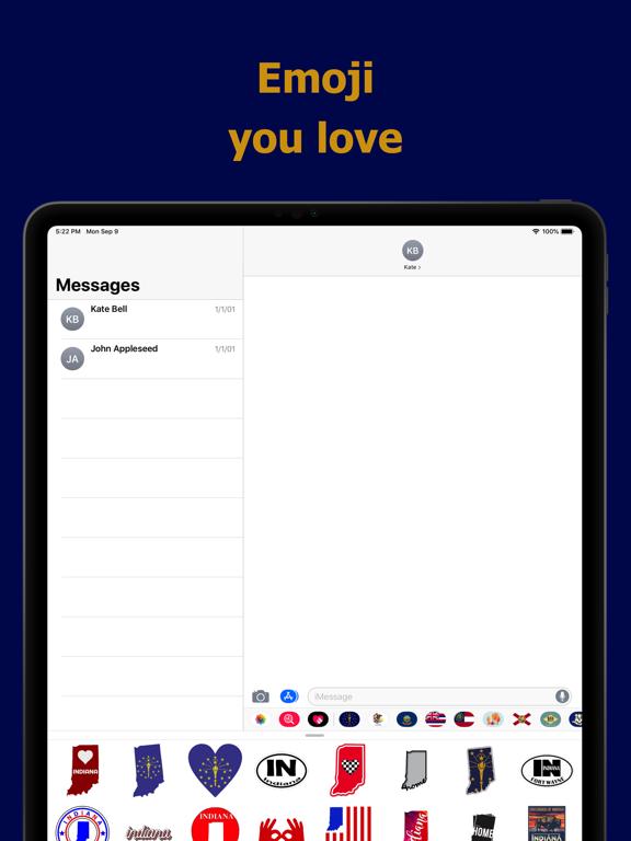 Indiana emojis - USA stickers screenshot 7