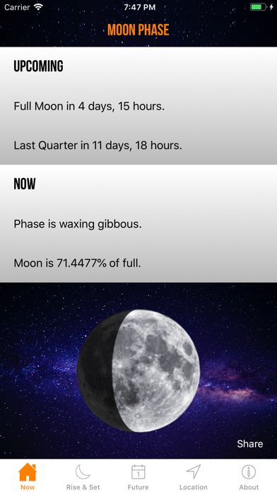 Screenshot for Moon Phase Calendar Plus in Philippines App Store