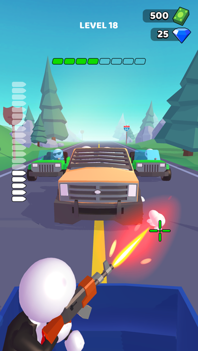 Rage Road - Car Shooting screenshot 1