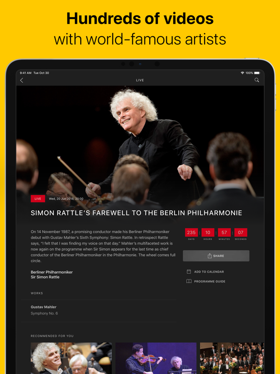 Digital Concert Hall screenshot