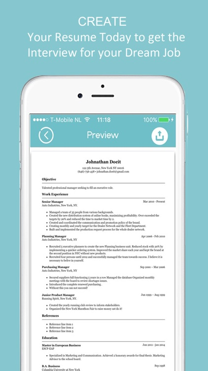 Resume Builder CV Résumé Maker screenshot-3