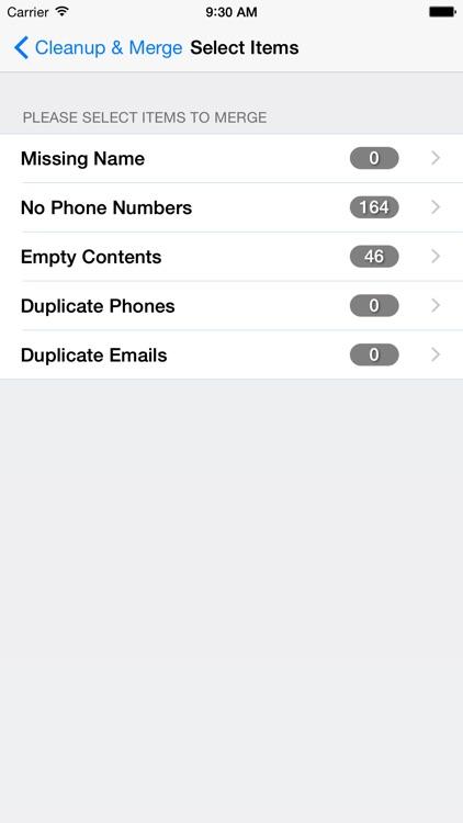 Clean,Merge Duplicate Contacts screenshot-4
