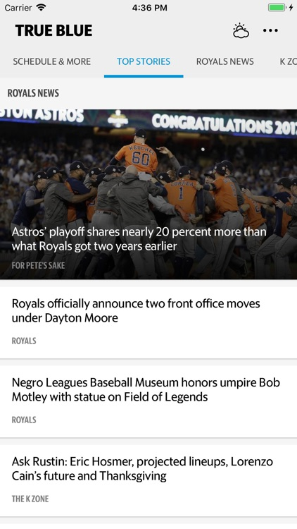 True Blue–Royals Baseball News