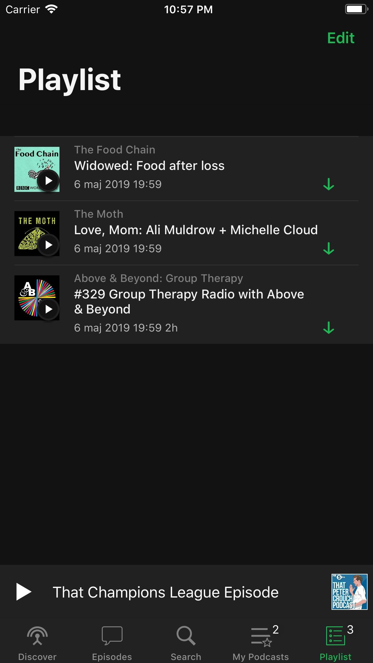 Screenshot do app Pods - Podcast Player