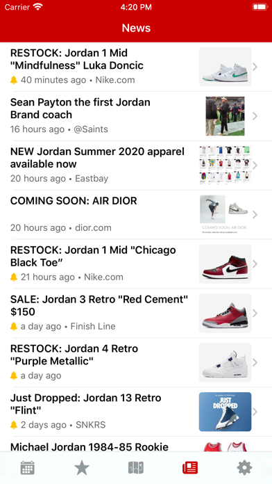 J23 - Release Dates & Restocks Screenshot