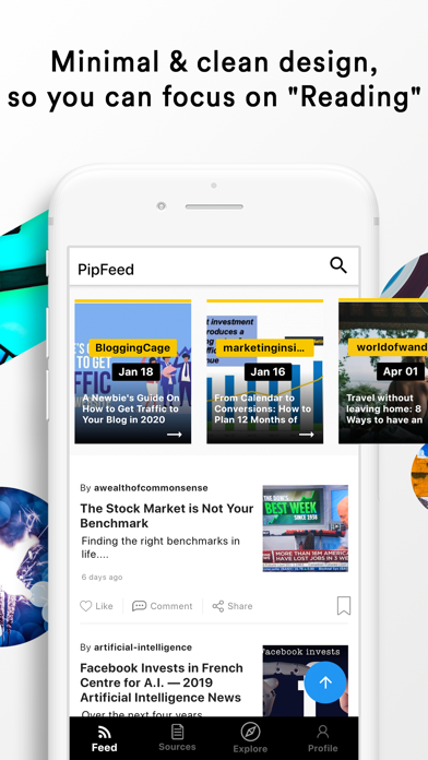 PipFeed - Article Reading App Screenshots