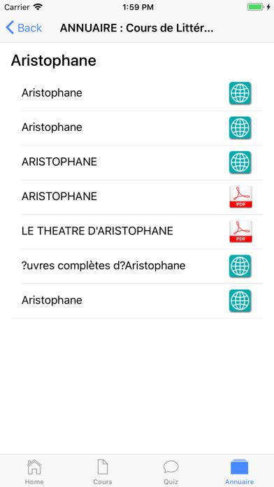 Cours de Littérature screenshot 7