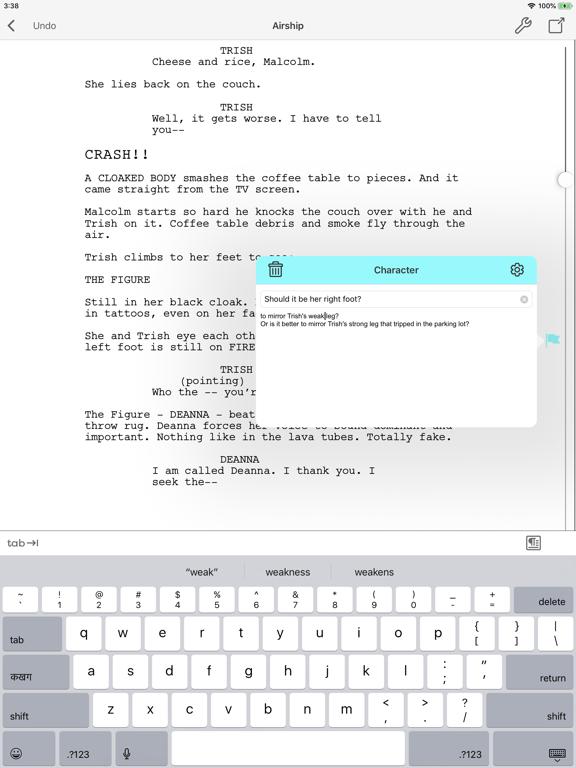Final Draft Mobile Screenshot 2