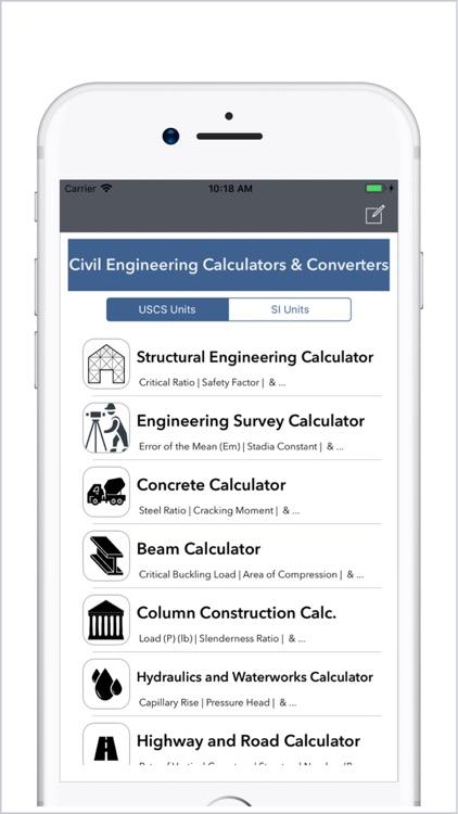 Civil Engineering Calculators screenshot-0