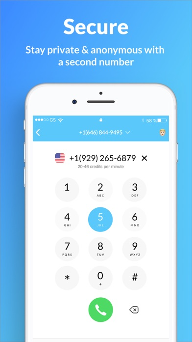 Second Phone Number - SIMless Screenshot
