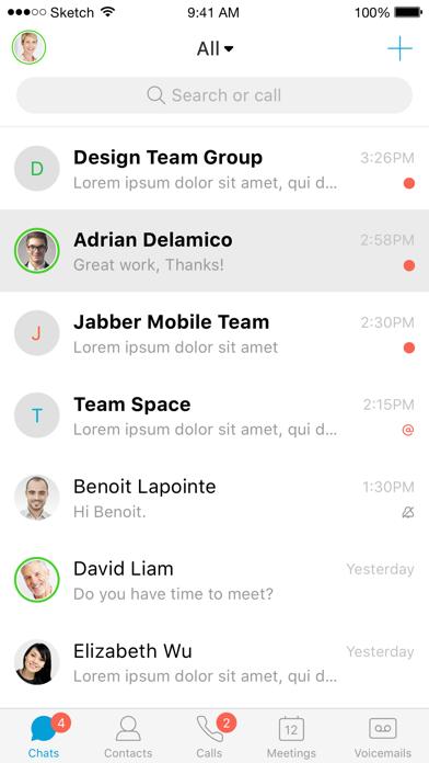 Cisco Jabber screenshot two