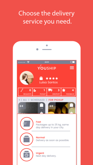 YOUSHIP - Delivery on demand screenshot one