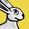 中世のウサギのステッカー