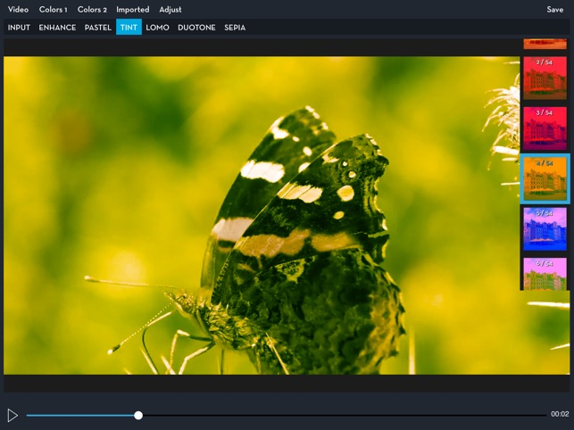 Video LUT Grading Screenshot