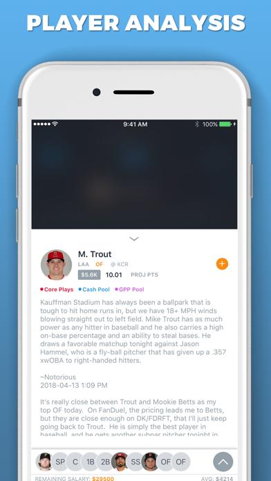 LineupHQ Express for DK Screenshot