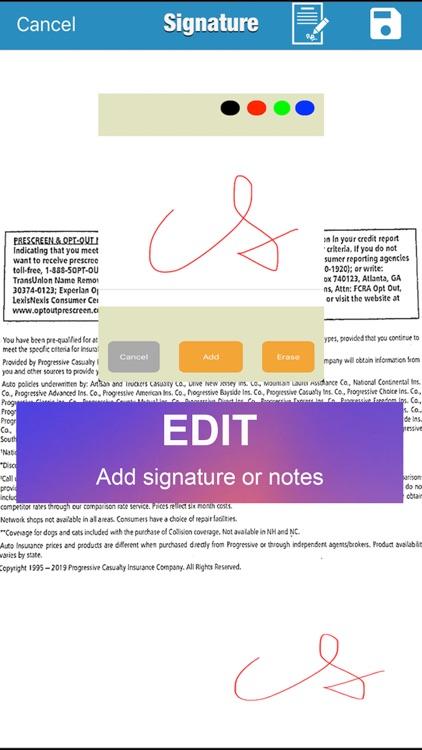 MyScan: capture and share PDF screenshot-3