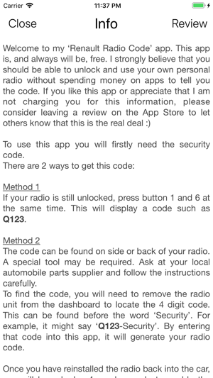 Renault Decoder on the App Store