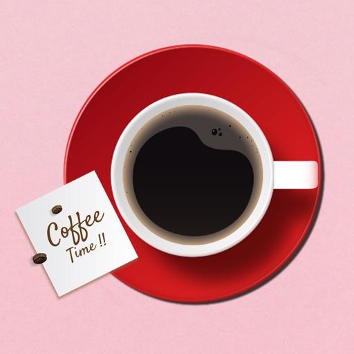 Coffee Breakfast Time Stickers