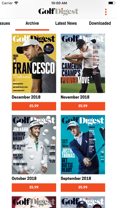 messages.download Golf Digest Magazine software
