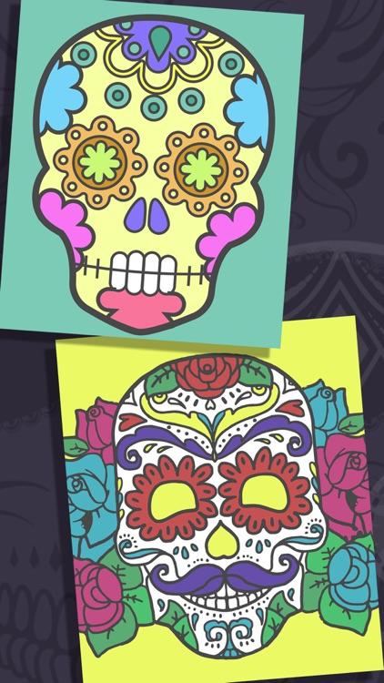 Sugar Skulls Coloring Book screenshot-4