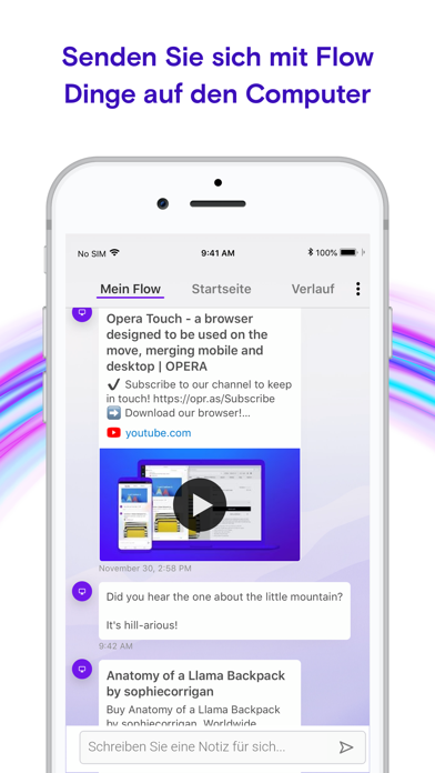 Screenshot for Opera Touch Web-Browser in Germany App Store