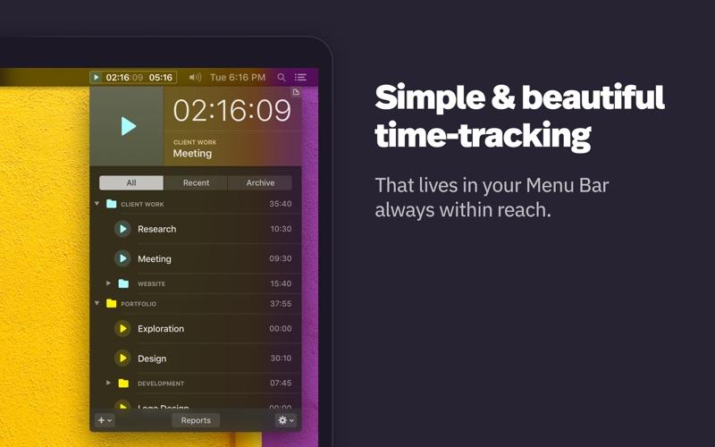 Klokki Slim - Time Tracking скриншот программы 1