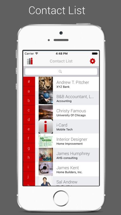 i-Card Business Card App screenshot-3