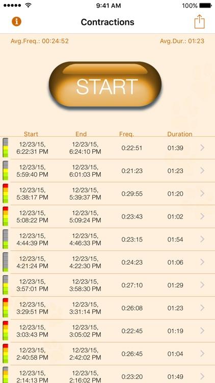My Contraction Tracker screenshot-0