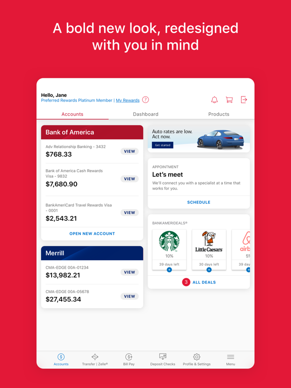 Bank of America - Mobile Banking screenshot
