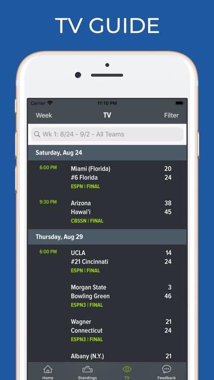 Hawaii Football Schedules screenshot-6