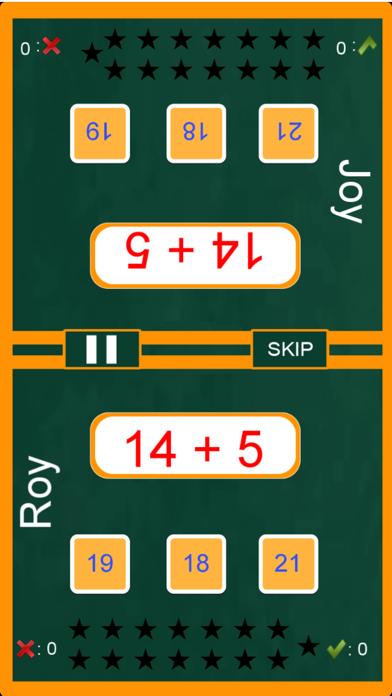 Screenshot #1 pour Maths Duel - Two Player Maths