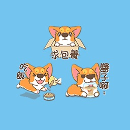Orange Dog Stickers