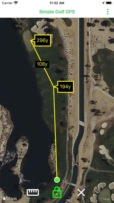 Simple Golf GPS screenshot 1