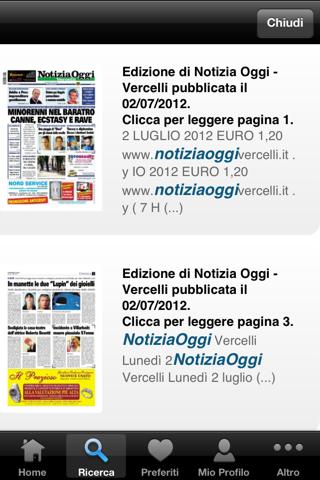 Notizia Oggi Vercelli - náhled