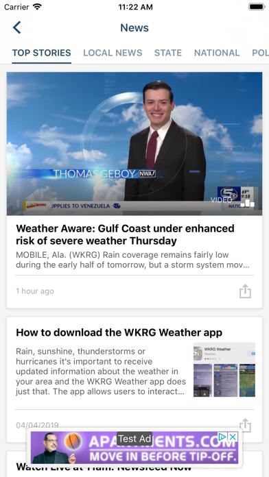 WKRG News 5 - Mobile, AL News Screenshot on iOS