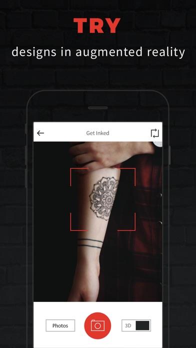 INKHUNTER PRO Tattoos try on iphone ekran görüntüleri