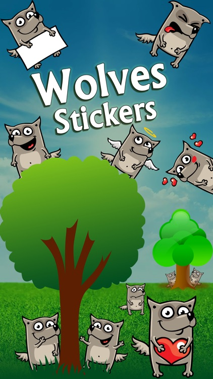 Wolf Emoji Stickers