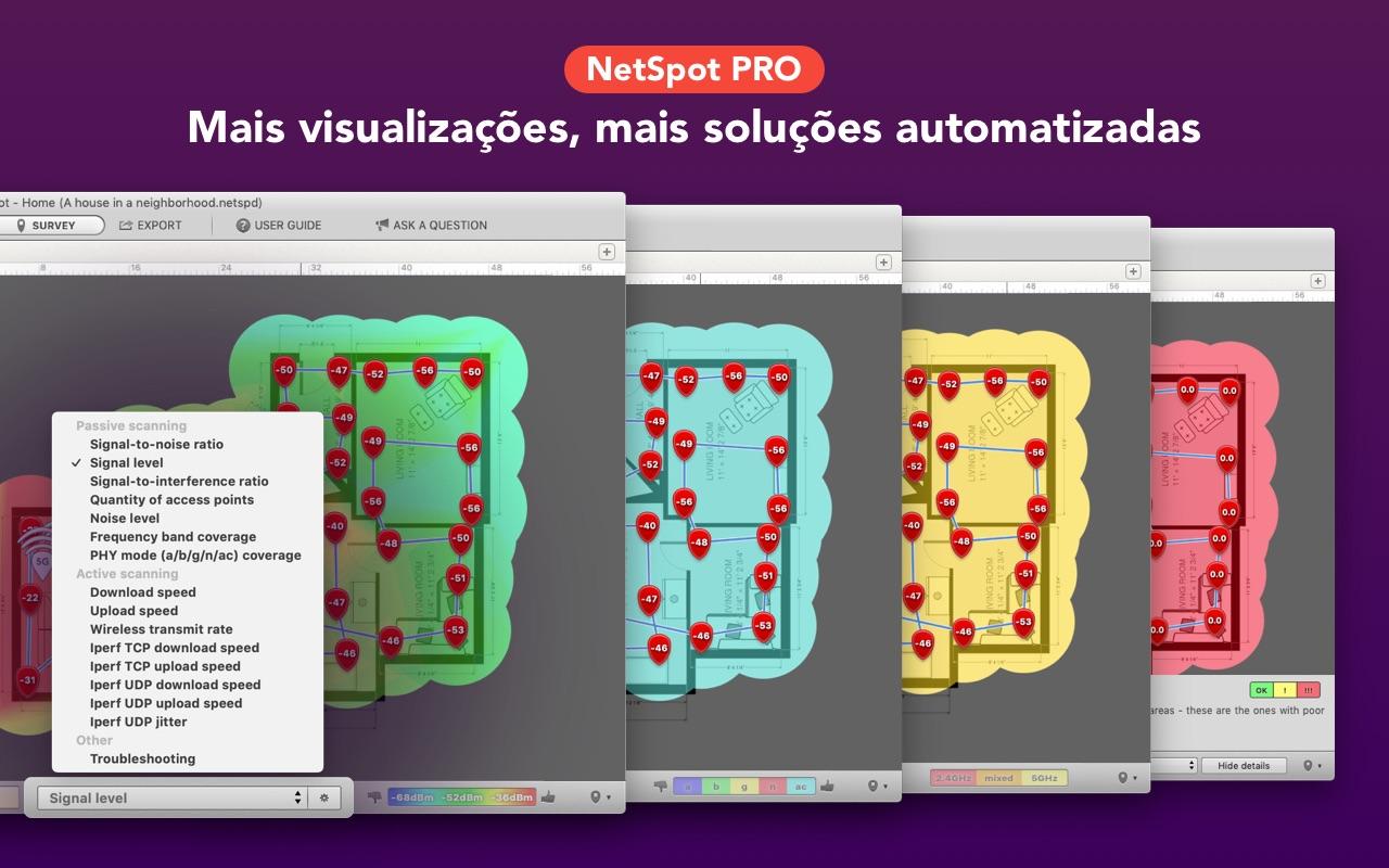 Screenshot do app NetSpot Home