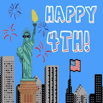Happy Independence Day Sticker Logo