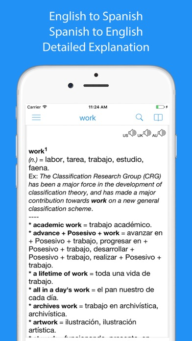 Spanish Dictionary - Dict Box Screenshot