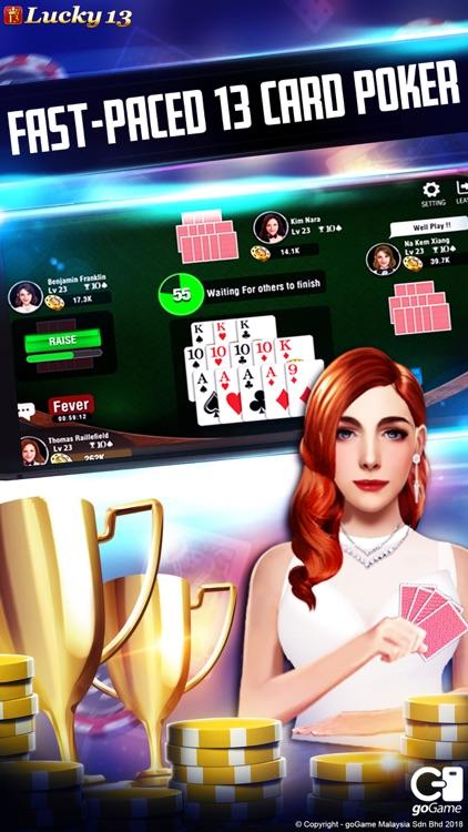 Lucky 13: 13 Poker Puzzle screenshot-0