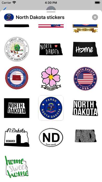 North Dakota - USA stickers screenshot 3
