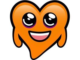 Orange Hearts stickers